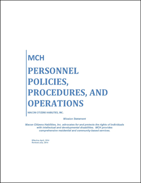 Personnel Policy 2014